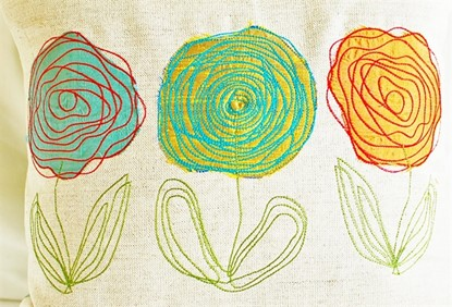 Picture of Scribbled Roses Appliques